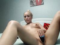 blonde cutie having fun masturbating on webcam live