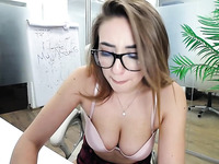 slutty secretary is reaching orgasm during office time`