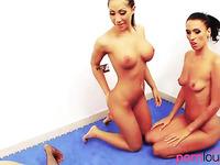 Wrestling lesbian milfs in threesome