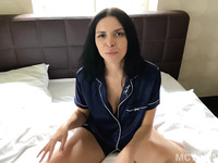 Homemade amateur busty MILF Kira Queen gets a big creampie