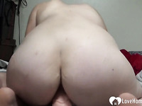 Amateur Wife Rides A Big Dildo For Hubby and Enjoys Homemade Sex