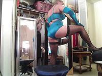 My Slave in Satin Parfait by Affinitas - Danielle Bra & Panty Set - Peacock Blue - Clip 3 - HD -- HEATH GRUSSING