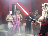 Star Wars cosplayers group fucking