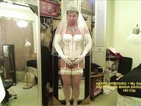 My Slave in BRIDAL SATIN ELOMI MARIA BASQUE CORSET -- HD Clip ++++
