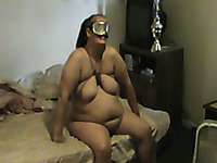 Watch my freaky mature bitch and her fetishes in bed