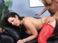 Sexy and filthy brunette milf wants to have hardcore sex