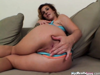 Big boobed milf analized as she toys