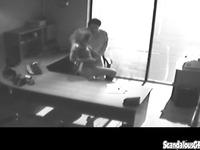 Office slut bangs the boss on secret sex tape