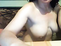 Lucky dude banged his busty girlfriend on webcam for me