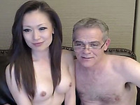 An old perverted jerk is lucky to fuck a younger Asian chick