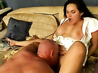 Zesty and kinky brunette nurse milf with big boobs blows dick